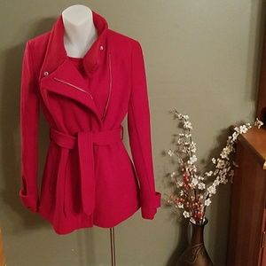 Express red wool jacket